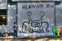 Daniel Johnston's Jeremiah the Frog Mural