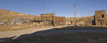 Panoramic View of Bodie at Sunset