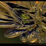 """Elliptical Gold Crystals"" by AnnStretton"
