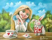 Alice in wonderland the white rabbit painting