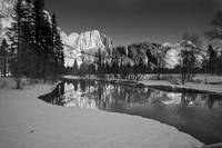 Merced River and Yosemite Falls, Winter