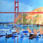 """Under the Golden Gate"" by LeslieSaetaFineArt"