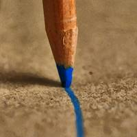 Pencil in blue