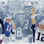 """Tom Brady Quarterback Study 1"" by Gbrooks"