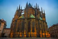 Saint Vitus Cathedral at dusk