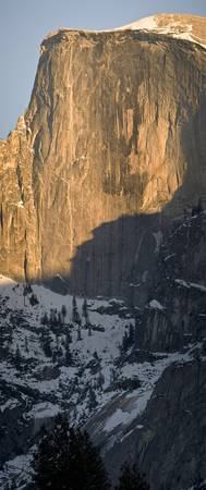 Half Dome Vertical Winter Panorama, Yosemite