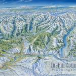 """Chelan County Washington in Winter"" by jamesniehuesmaps"