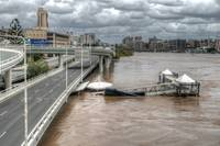 North Quay Ferry Terminal During Brisbane Floods