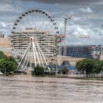"""South Bank & Wheel of Brisbane During Floods"" by urban"