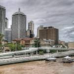 """""""Brisbane CBD During 2011 Floods"""" by urban"""