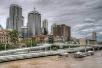 Brisbane CBD During 2011 Floods