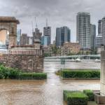 """Brisbane CBD from South Bank During Flood"" by urban"