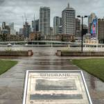 """Brisbane CBD from Southbank During Floods"" by urban"