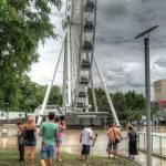 """Brisbane Wheel, South Bank During Floods"" by urban"