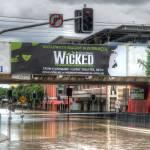 """Melbourne St, South Brisbane During 2011 Floods"" by urban"