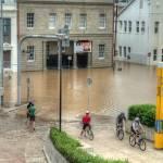 """""""Grey St, South Brisbane During 2011 Brisbane Flood"""" by urban"""