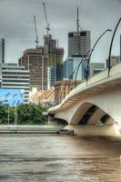 Victoria Bridge During Brisbane Floods 2011