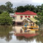 """House on Park Road, Yeronga During 2011 Floods"" by urban"