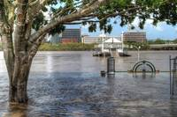 Pier at South Bank, Brisbane During 2011 Floods