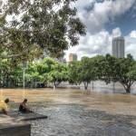 """South Bank, Brisbane During 2011 Floods"" by urban"