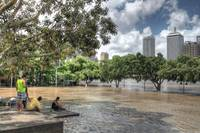 South Bank, Brisbane During 2011 Floods