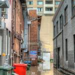 """Brisbane Alleyway During Flood"" by urban"