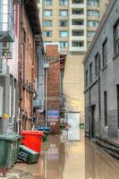 Brisbane Alleyway During Flood