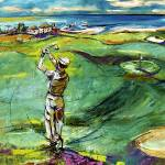 """""""Golfing by the Sea 2"""" by GinetteCallaway"""