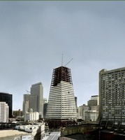 Transamerica Pyramid under construction 1972 by WorldWide Archive