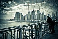 New York Sky Line - Brooklyn Bridge