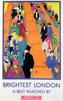 London Underground Vintage Travel Poster