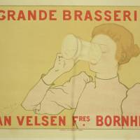 """Grande Brasserie Vintage Poster"" by The Fine Art Masters"