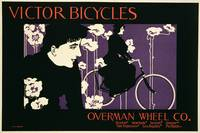 Victor Bicycles Vintage Poster Advertisement