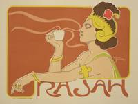 Cafe Rajah Vintage Poster Advertisement