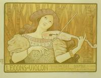 'Violin Lessons' Vintage Poster Advertisement