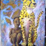 """""Little Cheetah Boy"" Acrylic on 24X30 canvas - 400"" by sebastiantpierre"
