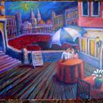 """""A Date in Venice"" Acrylic on 16X20 Canvas"" by sebastiantpierre"