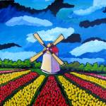 """""German Windmill"" Acrylic on 16X20 Canvas - $250"" by sebastiantpierre"