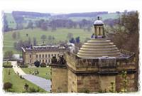 Chatsworth Hall from the rear