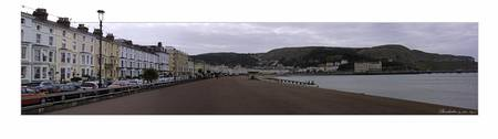 Llandudno Sea Front in colour