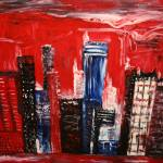 """Red sunset, buildings"" by Caprelli"