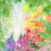 The Sunlit Falls Art Prints & Posters by Rebecca Tripp