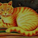"""Orange Tabby Cat in Pencil"" by AprilGuittar"