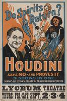 Houdini - Do Spirits Return?