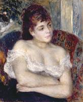 Woman in an Armchair, 1874 by Renoir