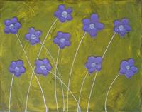 Abstract Purple Flowers