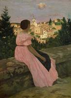 The Pink Dress, or View of Castelnau-le-Lez, Herau