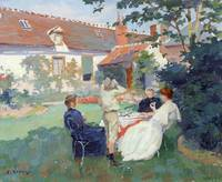 Teatime by Jules Ernest Renoux