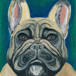 """French Bulldog III"" by AniaMMiloART"