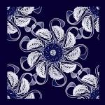 """Blue Floral Mandala"" by MoonDreams"